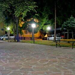 МБАЛ Троян - изглед от двора на болницата